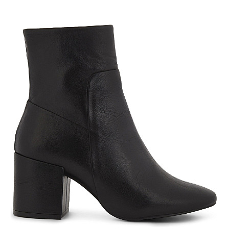 TOPSHOP Mint leather ankle boots (Black