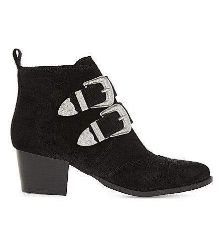 TOPSHOP Montana leather ankle boots (Black