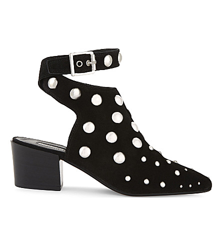 TOPSHOP Madness studded suede ankle boots (Black