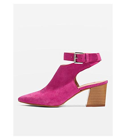 TOPSHOP Nett suede pointed heels (Pink