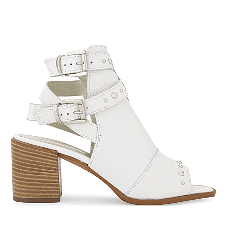 TOPSHOP National studded leather ankle boots (White