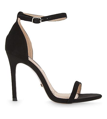 TOPSHOP Rosalie suede heeled sandals (Black