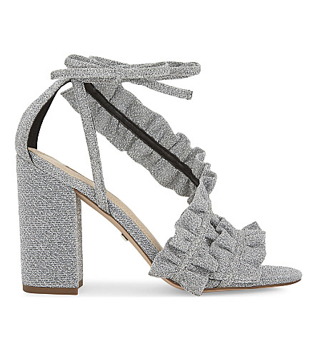 TOPSHOP Real heeled sandals (Silver