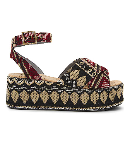 TOPSHOP Whisper wedge sandals (Multi