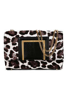 JIMMY CHOO Alba leopard-print shoulder bag