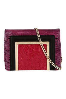 JIMMY CHOO Ava Jazzberry Elaphe small clutch bag