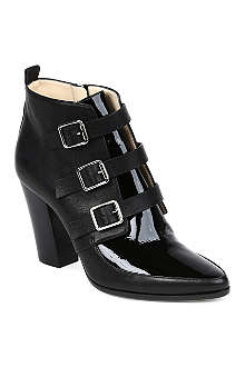 JIMMY CHOO Hutch textured leather ankle boots