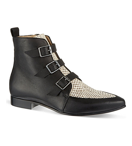 JIMMY CHOO Marlin leather ankle boots (Blacknatural