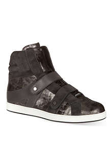 JIMMY CHOO Asphalt suede high-tops