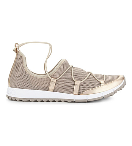 JIMMY CHOO Andrea leather trainers (Tea+rose
