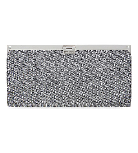 JIMMY CHOO Camille glitter clutch (Anthracite