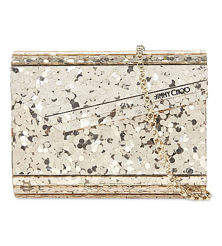 JIMMY CHOO Candy Mini sequin clutch (Gold