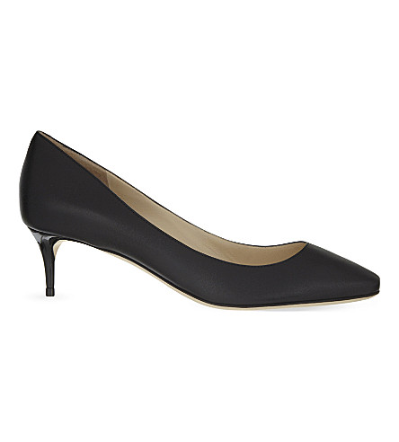 JIMMY CHOO Esme 50 leather heeled pumps (Black