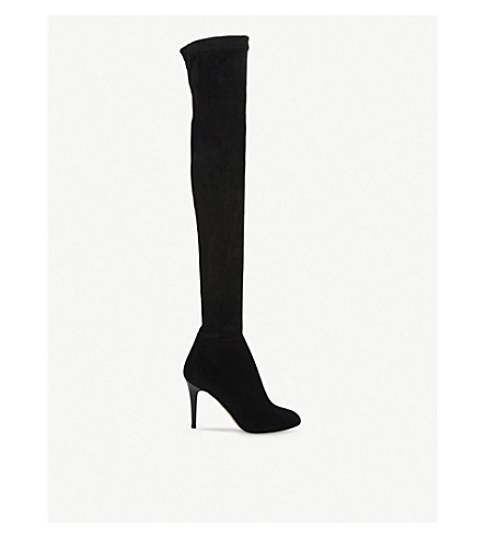 JIMMY CHOO Toni stretch-suede over-the-knee boots (Black black