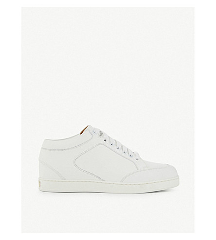 JIMMY CHOO Miami calf-leather trainers (White