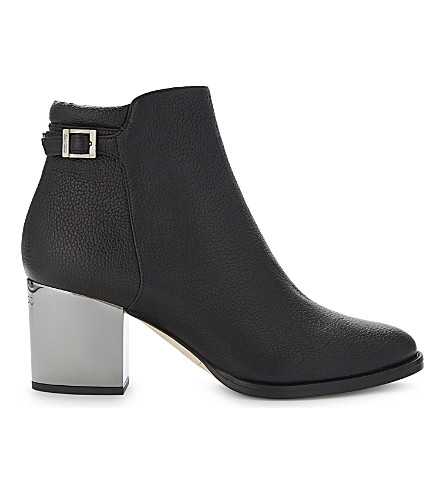 JIMMY CHOO Method 65 grainy leather ankle boots (Black