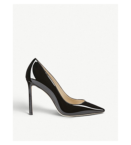 JIMMY CHOO Romy 100 patent-leather courts (Black