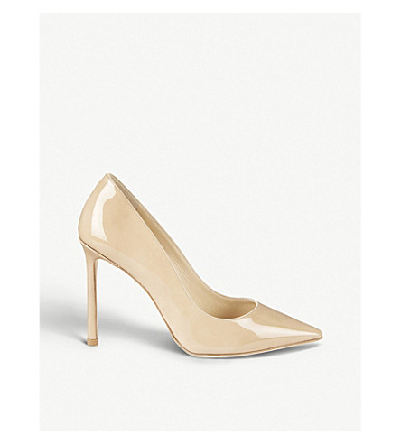 JIMMY CHOO Romy 100 patent-leather courts (Nude
