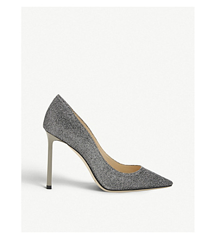 JIMMY CHOO Romy 100 embellished courts (Anthracite