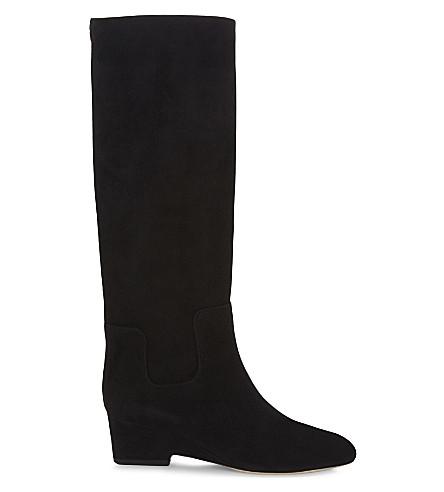 JIMMY CHOO Manson 50 suede boots (Black