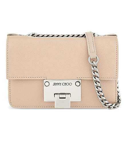 JIMMY CHOO Rebel Soft Mini leather cross-body bag (Ballet+pink
