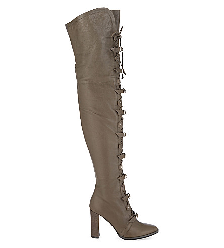 JIMMY CHOO Maloy 95 leather over-the-knee boots