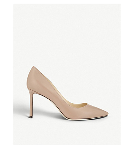 JIMMY CHOO Romy 85 leather courts (Ballet+pink