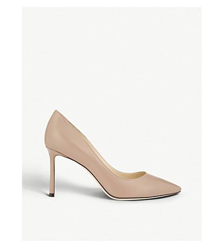 JIMMY CHOO Romy 85 皮革宫廷鞋 (芭蕾舞 + 粉红色