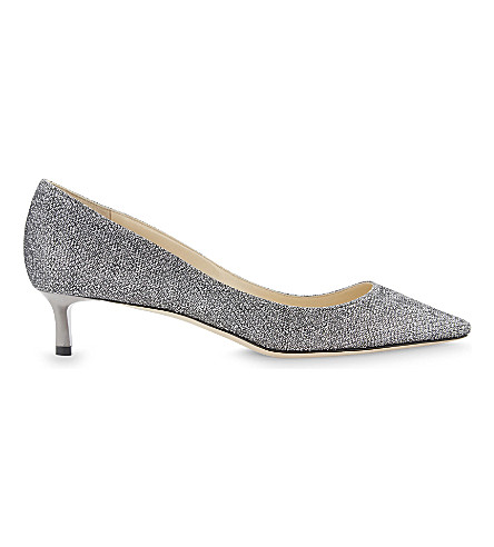 JIMMY CHOO Romy 40 glitter courts (Anthracite