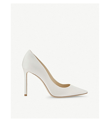 JIMMY CHOO Romy 100 satin courts (Ivory