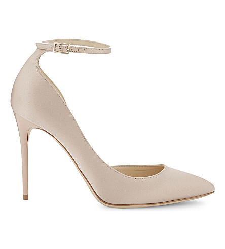 JIMMY CHOO Lucy 100 satin courts (Dusty+rose