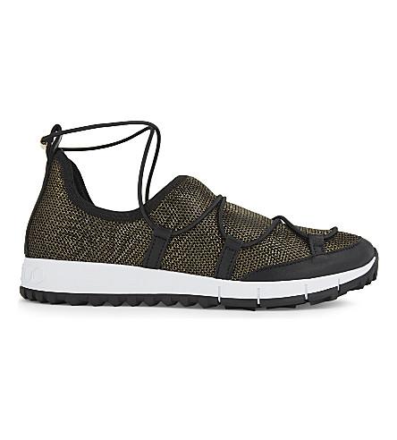 JIMMY CHOO Andrea metallic mesh sneakers (Gold