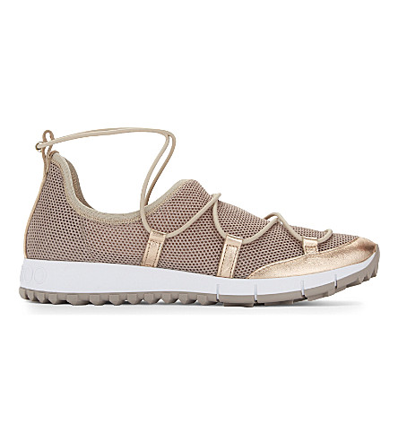 JIMMY CHOO Andrea mesh sneakers (Tea+rose
