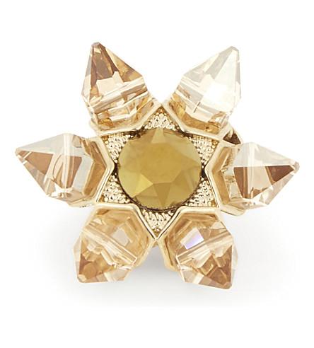 JIMMY CHOO Lilou Swarovski crystal shoe button (Gold+mix