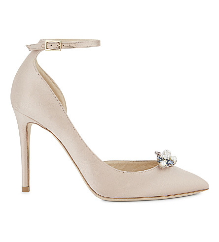 JIMMY CHOO Rosa 100 satin heeled sandals (Dusty+rose