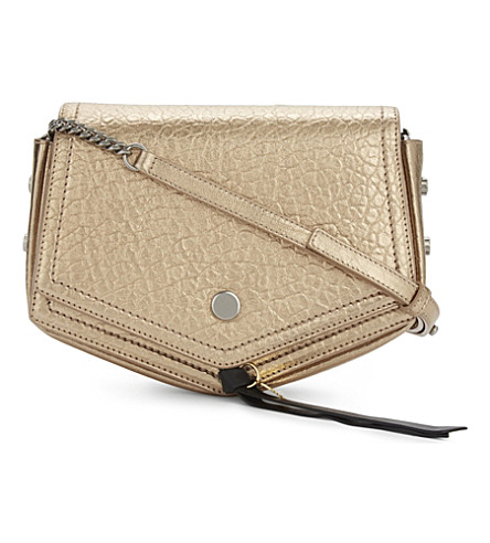 JIMMY CHOO Arrow leather cross-body bag (Dore