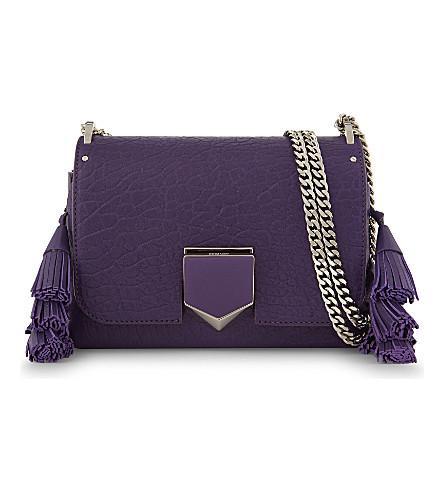 JIMMY CHOO Lockett Petite grainy leather shoulder bag (Iris