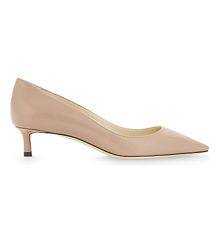 JIMMY CHOO Romy 40 leather courts (Ballet+pink