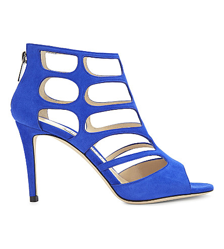 JIMMY CHOO Ren 85 suede heeled sandals