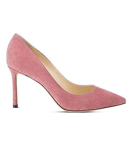 JIMMY CHOO Romy 85 suede courts (Vintage+rose