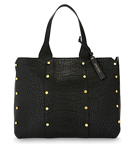 JIMMY CHOO Lockett Shopper leather tote (Black