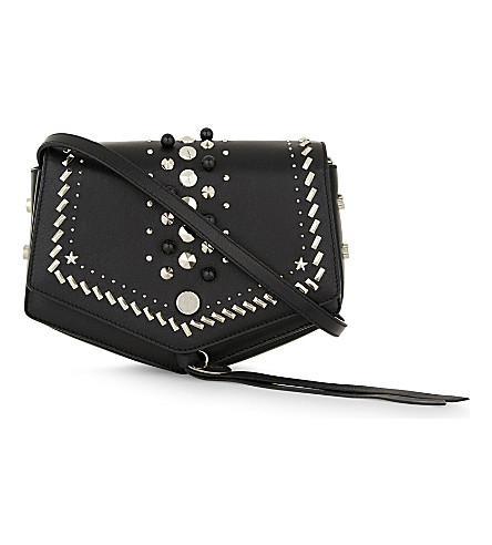JIMMY CHOO Arrow leather cross-body bag (Black