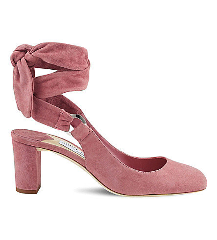 JIMMY CHOO Malika 65 suede heeled sandals (Vintage+rose