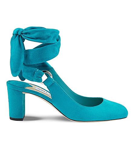 JIMMY CHOO Malika 65 suede heeled sandals (Roman+blue