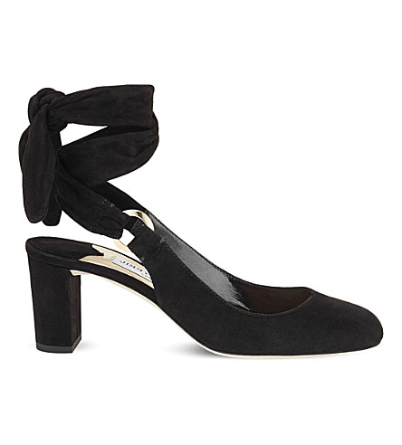 JIMMY CHOO Malika 65 suede heeled sandals (Black
