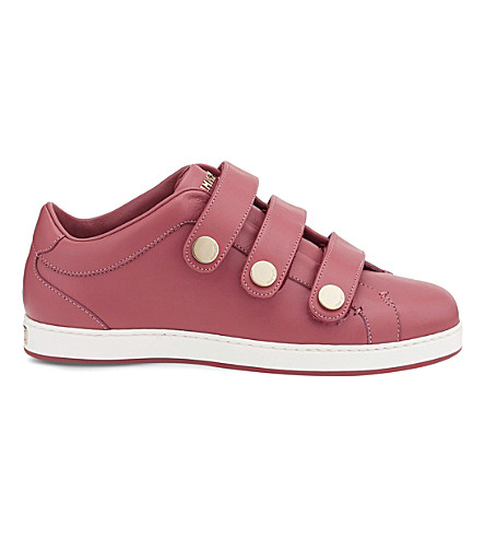 JIMMY CHOO NY leather trainers (Vintage+rose