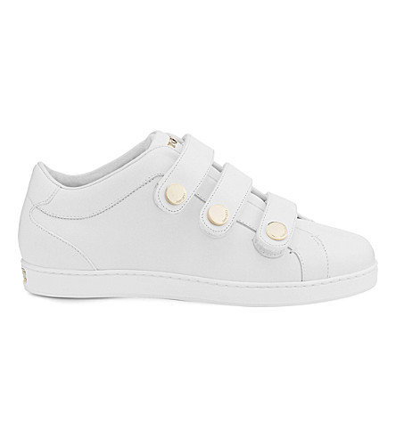 JIMMY CHOO NY leather trainers (White