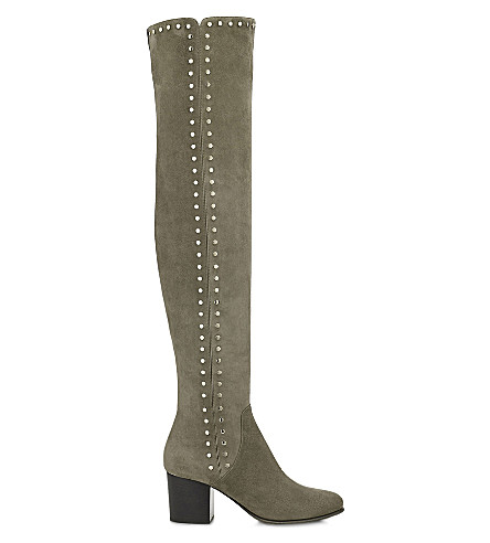 JIMMY CHOO Harlem 65 suede over-the-knee boots (Mink