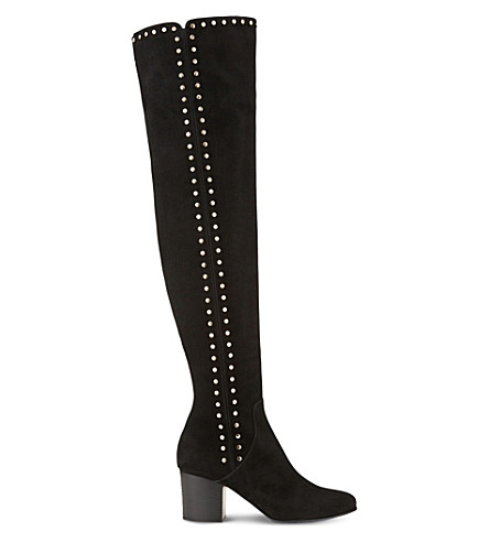 JIMMY CHOO Harlem 65 suede over-the-knee boots (Black