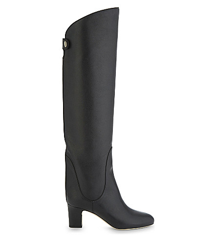 JIMMY CHOO Minerva 65 leather knee-high boots (Black